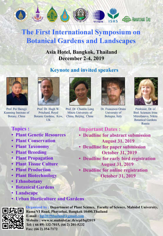 The First International Symposium on Botanical Gardens and Lands